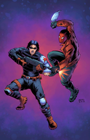 Winter Soldier Vs The Red Hood by J-Skipper
