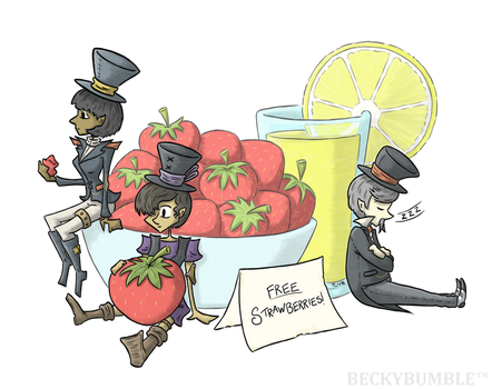 Free Strawberries! by BeckyBumble