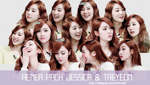 RENDER PACK JESSICA  AND TAEYEON by fanknguyen