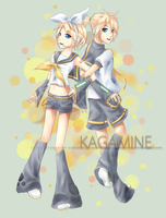Kagamine Rin and Len by sakura-the-kunoichi