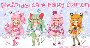 PokeMagica*Fairy Edition Adoptables (closed) by Hacuubii