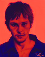 :Digital: Sketch of Norman Reedus by dwightyoakamfan