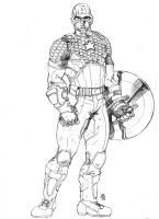 Marvel NOW Captain America by JeanSinclairArts