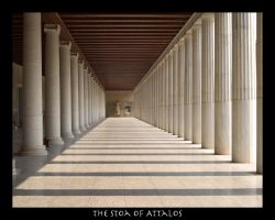 Stoa of Attalos 1 by AreteEirene