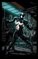Spiderman black suit Washed BG by Ta2dsoul