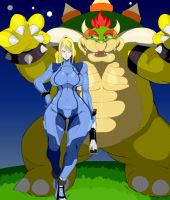 Samus Plus Bowser ex by EX-Buster-wolf