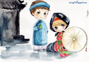 YunJae in North of Vietnam traditional costum by ThuyAn
