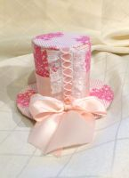 Pretty In Pink Mini Top Hat by ButterflyInDisguise