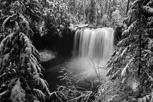 Koosah Falls, Winter Study by greglief