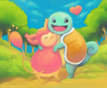 Squirtle and Skitty by shiropanda