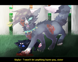 I won't let anything harm you, sister by cIiche