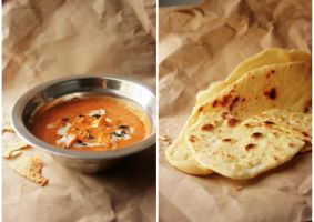 Garlic naan and Butter Paneer by sasQuat-ch