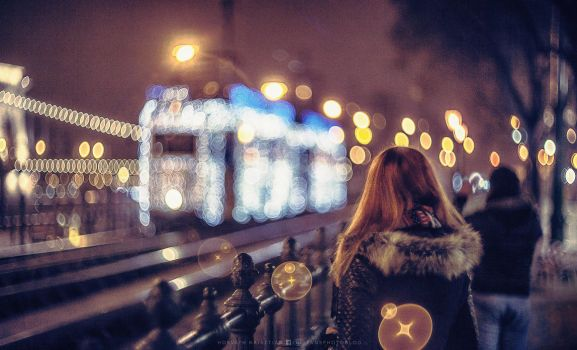Bokeh tram by hispanhun