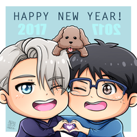 Victuuri: Happy New Year 2017 ~ by IperGiratina98