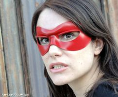 Red leather mask by Alyssa-Ravenwood
