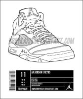 Air Jordan 5 Template alt by BBoyKai91
