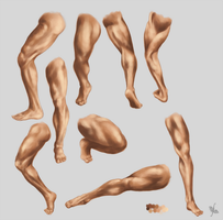 Male leg and foot STUDY by MonikaZagrobelna