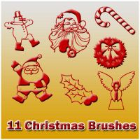 11 Christmas Brushes by Sweet83
