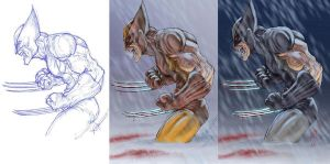 Wolverine Su Fu Collab. 3 by ChrisOzFulton