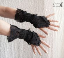 black lace gloves, Somnia Romantica by M. Turin by SomniaRomantica