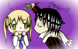 Maka X asura mistletoe by KishinSoul