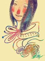 Colourful lady by FineLittleFay
