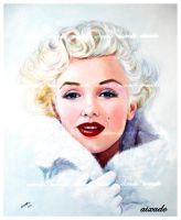 Marilyn Monroe finished by aixado