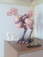 chocobo (final fantasy) papercraft by nandablank
