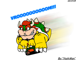 Mini Biking Bowser by YoshiMan1118