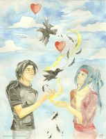 Commission Itachi and Ayumi by maritery-san