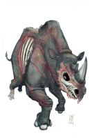 Zombie Rhino by williamsquid