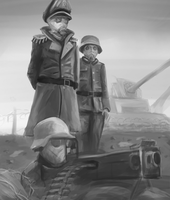 Death Korps Commissar inspects the front by kookri