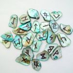 Elder Futhark Abalone Shells Runeset by poisons-sanity