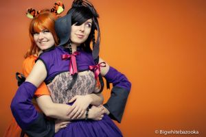 Gothic Lolita Tigger and Eeyor by miss-rage