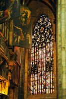 Milan's Duomo - interior detail 2 by wildplaces