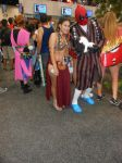 San Diego Comic Con 2016 Deadpool and  Leia by DougSQ
