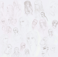 Sketches - Misc People and OCs by dessavk