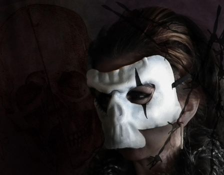 Skull leather mask by Shadows-Ink