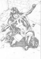 Huntress by Deilson by Ed-Benes-Studio