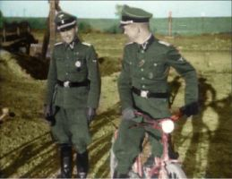 Mengele and another officer at Auschwitz by Stuka1911
