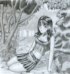 The girl in the forest by SIRGEVA