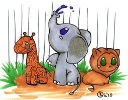 zoo animals by superayaa