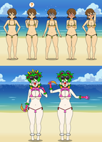 Breast Expansion Plus Clown Transformation by CrazyClara