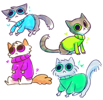 meowcats by rizusaur