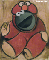 cookie monster painting by TOMMERVIK
