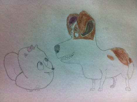 Max and Gidget - The Secret Life of Pets by BlueHedgehog1997