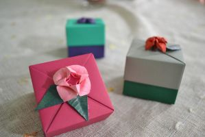 Origami Boxes I by ReverseCascade