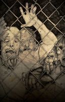 Walking Dead Fence Zombies by CHR15T0PH3L35