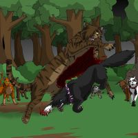 Tigerstar's death by Mana-ghostwolf