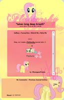 Fluttershy Journal Skin by alem22